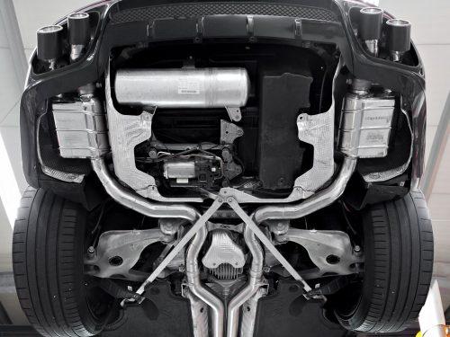 Panamera Turbo 971 Capristo Valved Exhaust installed