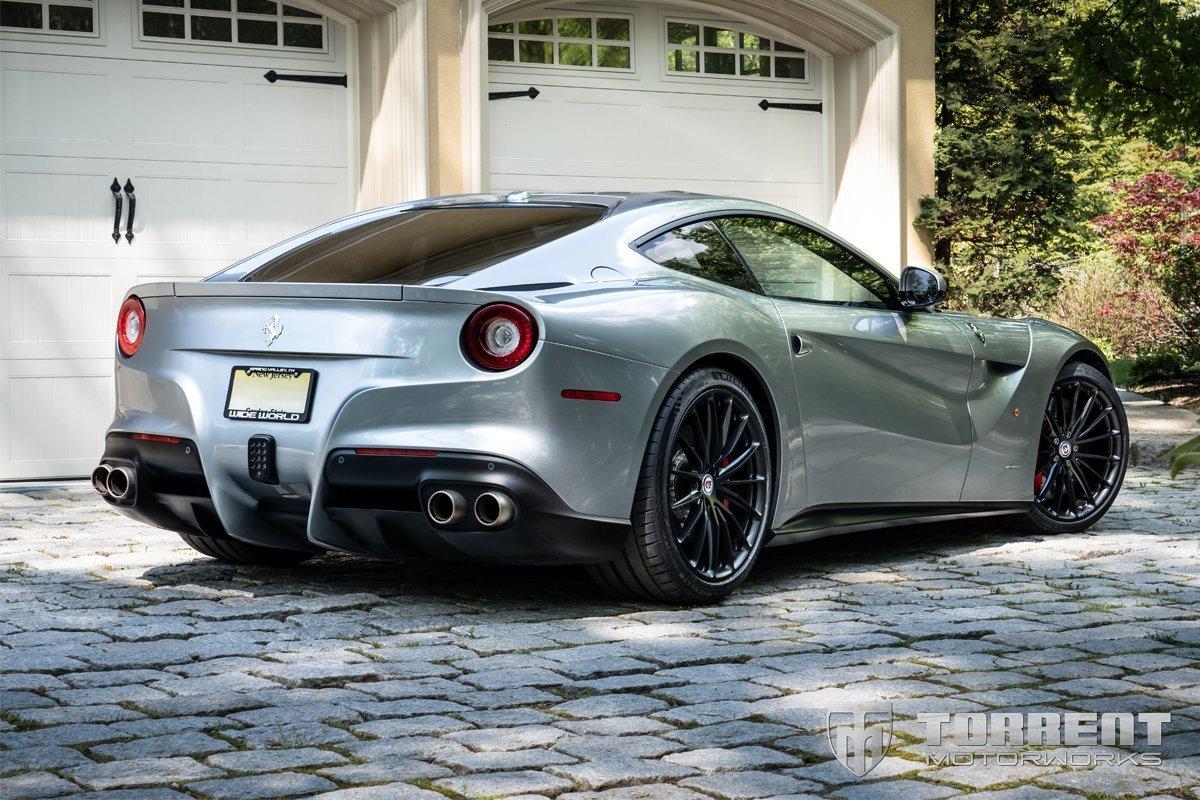 Ferrari F12berlinetta HRE Wheels P103 Satin Black | Torrent Motorworks
