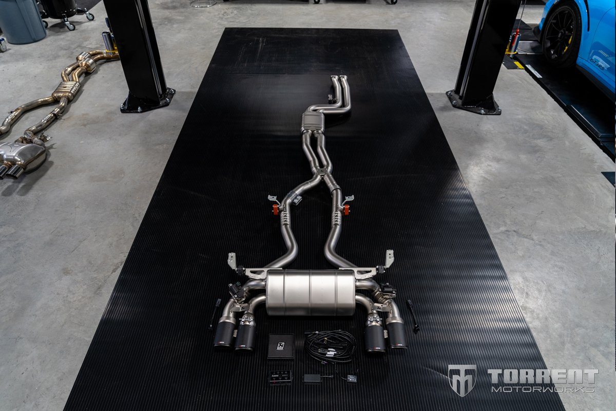 BMW M2 CS Akrapovic exhaust system | Torrent Motorworks