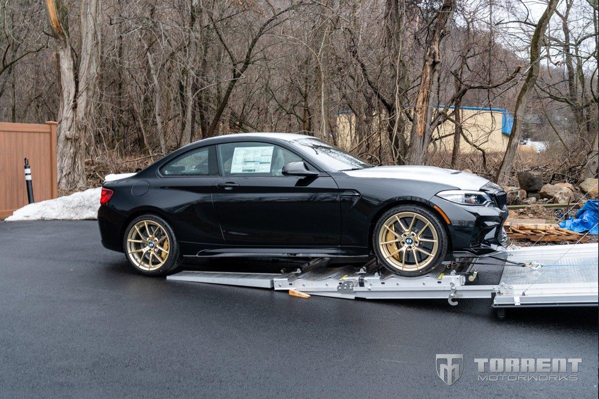 BMW M2 CS on Torrent Motorworks' Rail Ryder trailer system