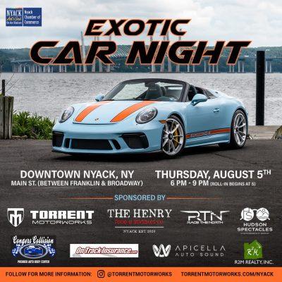 Nyack Exotic Car Night - 2021